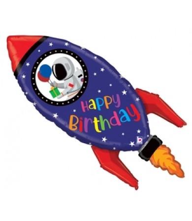 "35969P- Birthday Rocket (40"")"